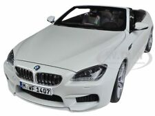 BMW M6 F12M CONVERTIBLE ALPINE WHITE 1/18 DIECAST CAR MODEL BY PARAGON 97061