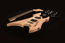 DIY Electric Guitar Kit Project Solid Mahogany Body Neck Unfinished