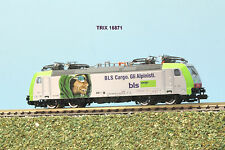 TRIX  art. 16871 locomotiva BLS Re 485 livrea gli Alpinisti scala N