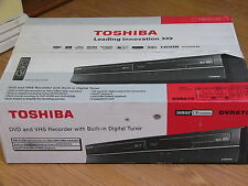 NEW Toshiba DVR670 DVD VHS Recorder Player Combo w/ Built in Tuner Black D-VR670
