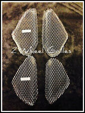 03-04 SUZUKI GSXR 1000 CHROME FAIRING GRILLS SCREENS MESH VENTS MUST HAVE L@@K
