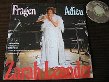 "7"" SINGLE Zarah Leander Fragen Adieu Germany | EX"