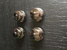 Lot de 4 Boutons pressions femelles LAITON CHROME Ø 15 mm