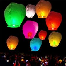 Lot 100pc Flying Lanterns Fire Light Wishing Chinese KongMing Lamp Wedding Party
