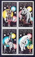 Germany DDR 1955a (1952-55) MNH 1978 Circus Performers in DDR Block of 4