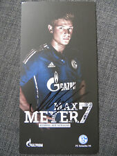 Handsignierte AK Autogrammkarte *MAX MEYER* FC Schalke 04 15/16 2015/2016