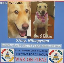 Flea Pills Control 57mg. GENERIC CAPSTAR  Dogs 25-125lbs. SALE $7.49 (6 pack) +1