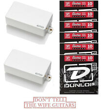 EMG 81 + 85 WHITE ACTIVE SOLDERLESS HUMBUCKER PICKUP SET ( 6 SETS OF STRINGS )