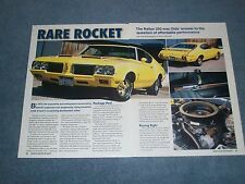 "1970 Oldsmobile Rallye 350 Info Article ""Rare Rocket"" Cutlass 442"