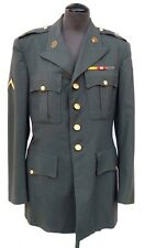Vtg Post WW2 US Army 10th  (10 AF) Officer's Uniform Jacket w/ patches pins