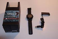 Garmin Fenix 2 Custodia, scatola, non funzionante-pezzi di ricambio o riparazione