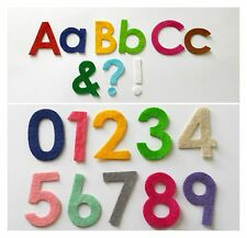 Die Cut Felt Letters, Numbers, Punctuation Marks for Crafts (pick any 10)