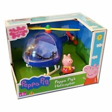 New Peppa Pig Peppa's Blue Helicopter Toy Copter Playset With Figure Age 3+
