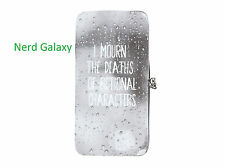 I Mourn The Deaths Of Fictional Characters Kisslock Hinge Wallet NEW! FREE SHIP!
