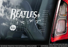 The Beatles - Car Window Sticker - Rock Pop Band Sign Art Gift John Lennon - V01