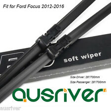 """28""""/28"""" Frameless Windscreen Wipers Blades for Ford Focus 2012-2016 Brand New"""