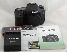 Fast free shipping! Excellent! Canon EOS 7D Digital SLR Camera Body with extras!