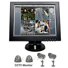 "12"" TFT LCD Color Display Screen HD 800*600 CCTV Security Monitor w/Speaker HDMI"