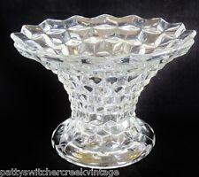 """Vintage FOSTORIA Elegant Crystal AMERICAN-7"""" PUNCH BOWL STAND PEDESTAL BASE"""