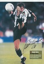 ALESSANDRO DEL PIERO HAND SIGNED JUVENTUS MAGAZINE PHOTO.