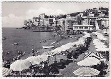 GENOVA CITTÀ 576 PEGLI - SPIAGGIA CLUB VELA Cartolina FOTOGRAFICA VIAGGIATA 1956