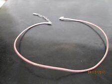 Authentic  PANDORA PINK Leather Neck Strap (Charm Holder)  Necklace