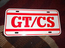 1968 FORD MUSTANG SHELBY GT/CS GT CS CALIFORNIA SPECIAL LICENSE PLATE INSERT