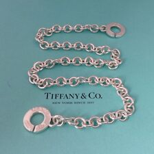 Tiffany & Co. Sterling Silver 1837 Interlocking Circle Clasp Necklace