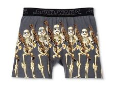 NWT MEN'S STAR WARS XL SKELETON STORM TROOPERS BOXER BRIEFS GLOW IN THE DARK