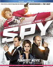 Spy (Blu-ray, NEW, 2015, Includes Digital Copy) Melissa McCarthy, Jason Statham