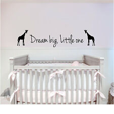 Wall Stickers custom colour dream big vinyl decal decor Nursery kids removable