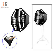 Photography Umbrella Octagon Softbox with Grid For SpeedLight Flash 120cm 47in