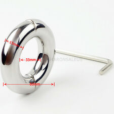 Stainless Steel Testicle Ball Stretcher Weight Restraint Ring Enhancer LOCK NEW