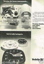 Publicité advertising 1973 Les Pendules Vedette