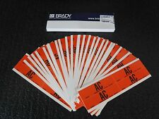 New Brady 44227 Voltage Card Pack of 25 with 4 Markers each AC 6GX57 (S)
