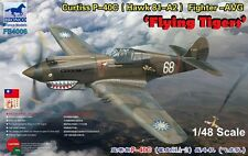"""Bronco 1/48 4006 Curtiss P-40C Hawk 81-A2 Fighter-AVG """"Flying Tiger"""""""