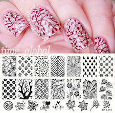Nagel Schablone Nail Art Stamp Template Plates BORN PRETTY BP-L015 12.5 x 6.5cm