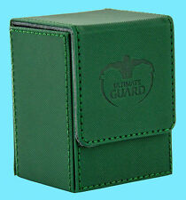 ULTIMATE GUARD XENOSKIN FLIP DECK CASE Standard Size GREEN 80+ MTG Card Box