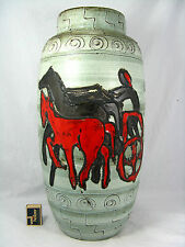 """Unusual  70´s design Scheurich Keramik pottery """" Lava"""" glaze floor vase 553- 52"""