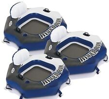 3 Pack Intex River Run Connect Tube Inflatable Float Raft Connecting Lounge