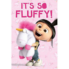 Minions Despicable Me It's So Fluffy POSTER 61x91cm NEW Agnes Unicorn Plush Cute