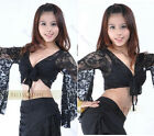 Womens Belly Dance Costume flower Sleeve Lace Blouse Tops Multi Colors new