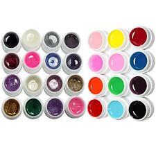 28 Pcs 12 Pure + 16 Glitter Color UV Builder Gel for Nail Art Fasle Tips Set