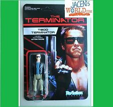 "Terminator T-800 Leather Jacket ReAction 3.75"" Retro Action Figure Unpunched"