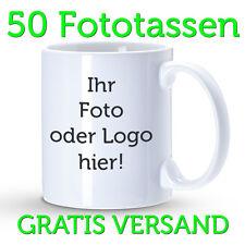 50x Tassendruck, individuelle Fototassen, Tasse mit Logo, bedruckte Motivtasse