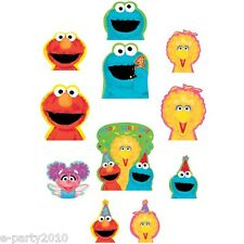 SESAME STREET 1st BIRTHDAY CUTOUTS (12) ~ First Party Supplies Decorations