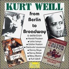 Kurt Weill from Berlin to Broadway a selection sealed CD Pearl Gertrude Lawrence