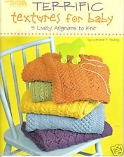 Terrific Textures For Baby ~  Leisure Arts ~ Knitting Book ~ Baby Afghans ~ KNIT