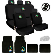 New Semi Custom Frog Logo Seat Covers Steering Wheel and Mats Set For Jeep