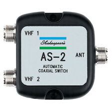 Shakespeare AS-2 Automatic 2x1 VHF Radio Coaxial Antenna Auto Switch Switcher